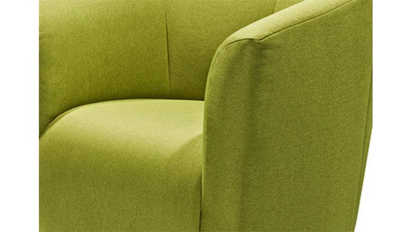 Sessel SAM Polstersessel Cocktailsessel in Webstoff grün