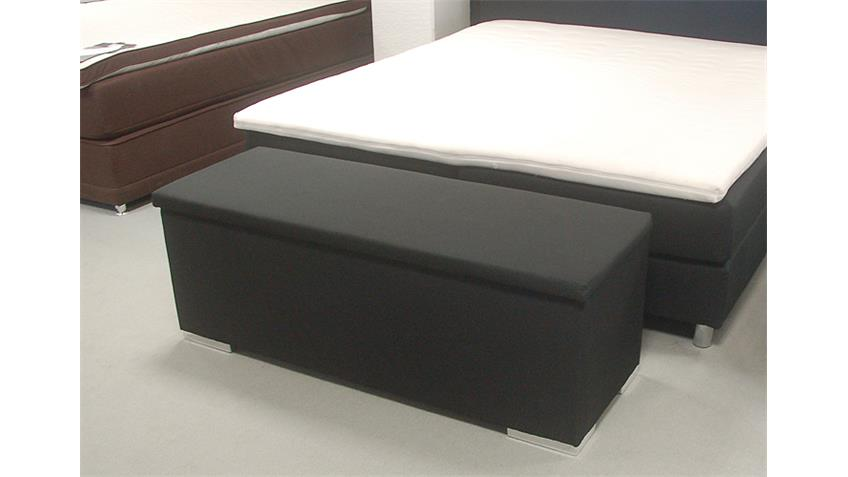 Sitzbank Truhe CHEST Truhe Schlafzimmer Stoff in schwarz