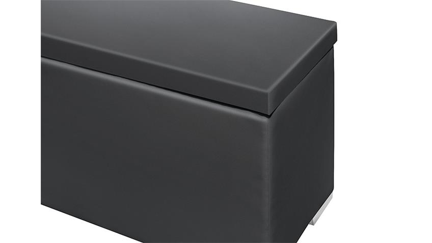 Sitzbank Truhe CHEST Schlafzimmer mit Deckel in schwarz