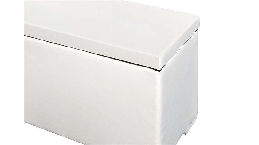 Sitzbank Truhe CHEST Schlafzimmer in weiß Deckel gepolstert