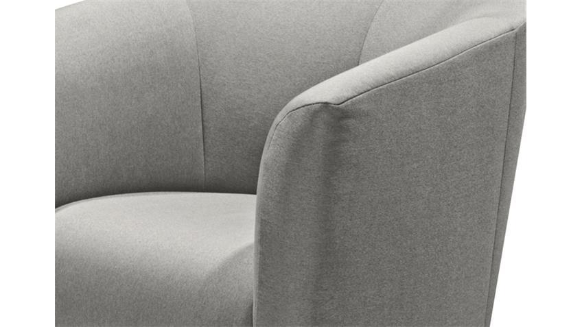 Sessel SAM Webstoff Silver Grau Polstersessel