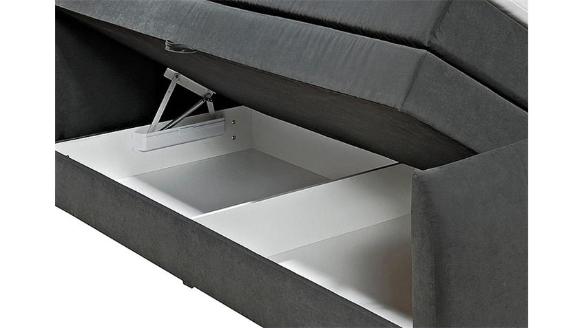 Boxspringbett MARYLAND schwarz mit Topper 180x200 cm