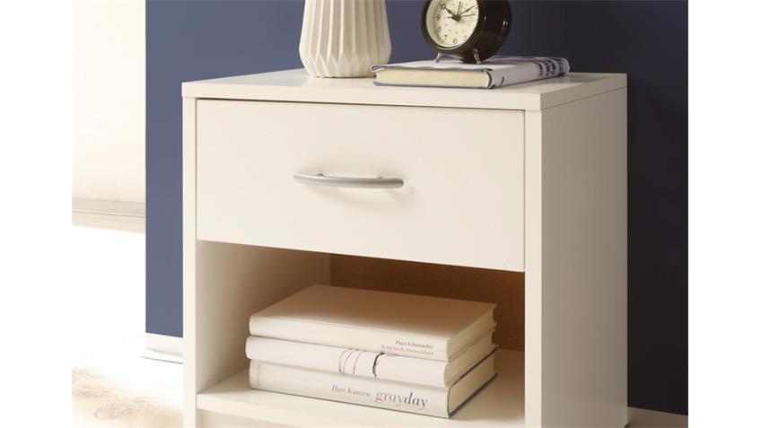 Nachtkommode PEPE Nachttisch Nachtkonsole in weiß Dekor