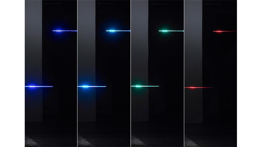Wohnwand LIGHT schwarz inkl. RGB Beleuchtung