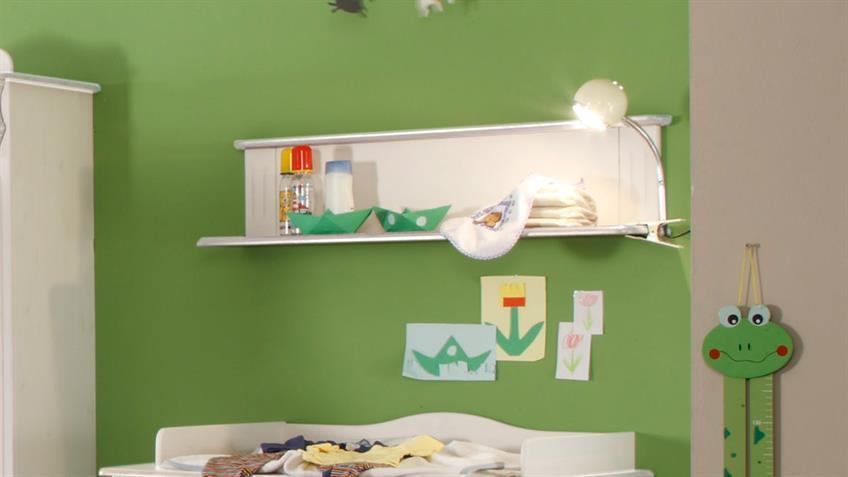 Wandregal Lara II Babyzimmer Kiefer massiv weiß