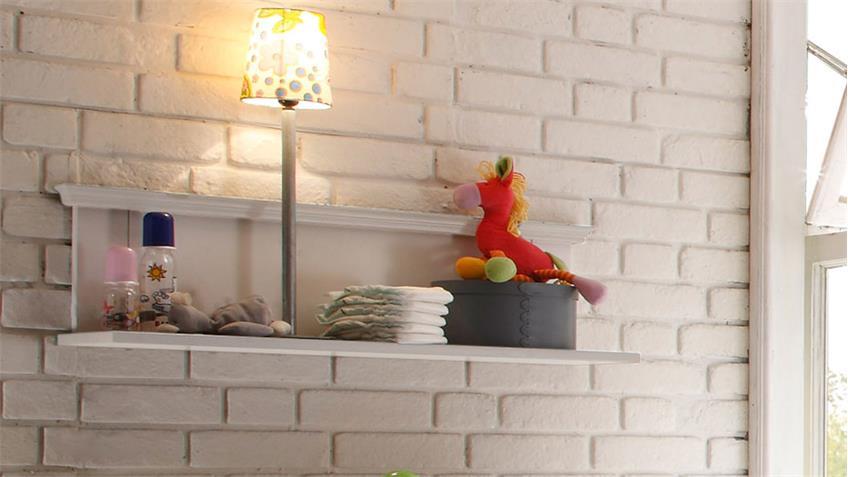 Wandboard Babyzimmer LAURA Wandregal Kiefer massiv weiß
