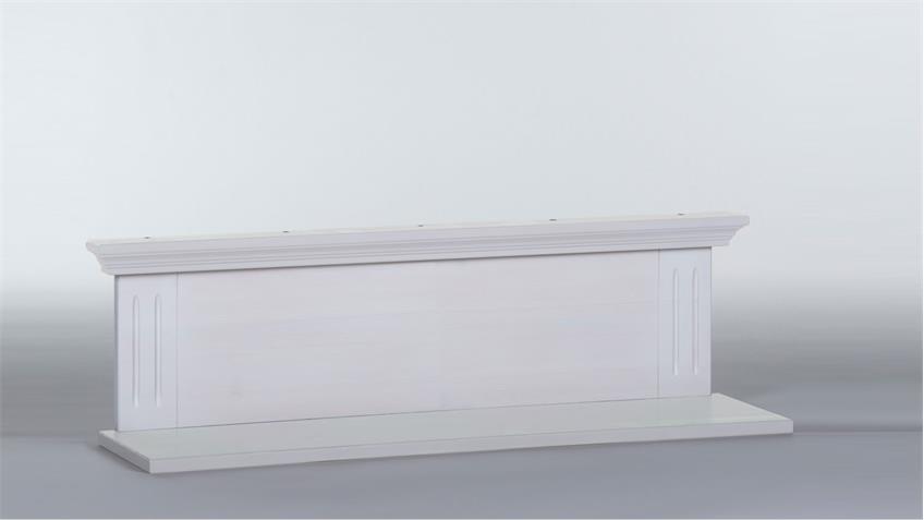 Wandboard Kiefer massiv weiß Babyzimmer Laura Wandregal