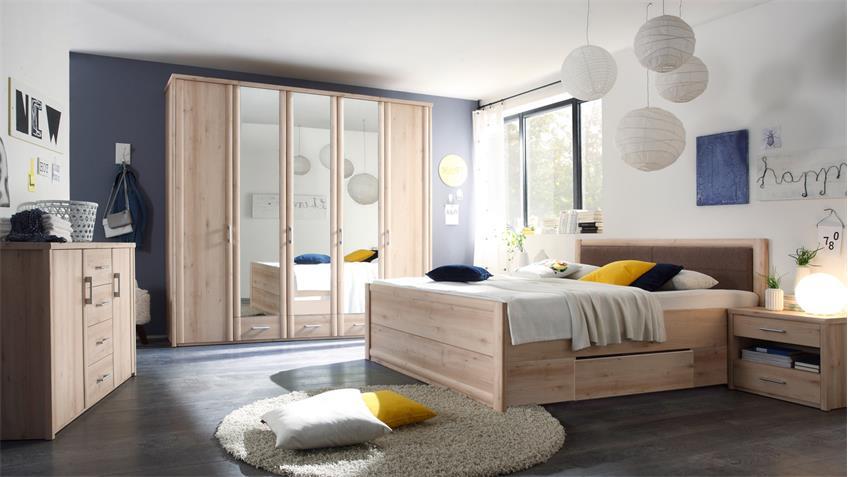 Schlafzimmer Kommode Classic Schrank 2-türig in Buche Dekor