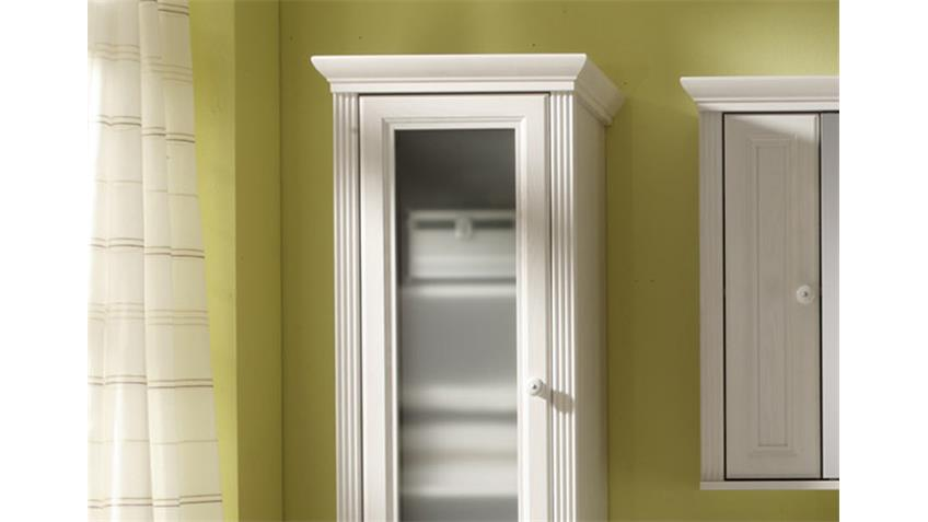 Hochschrank JASMIN Badezimmerschrank 2-trg. Lärche weiß