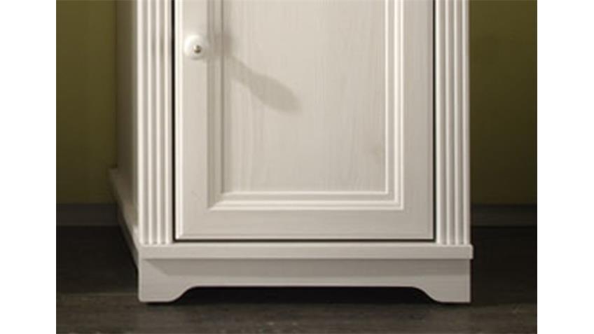 Kommode JASMIN Badezimmerschrank Lärche weiß mit Schubkasten