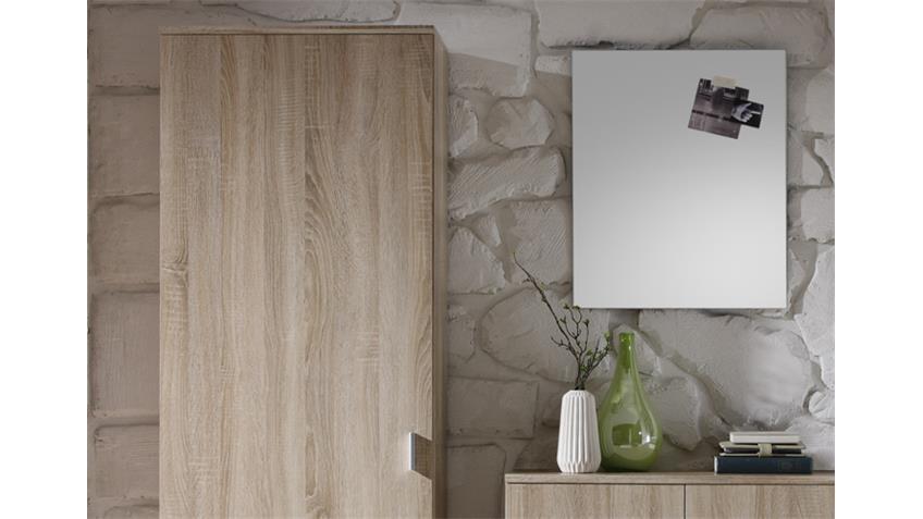 Garderoben Set 4-teilig LILLY Sonoma Eiche Dekor mit Spiegel