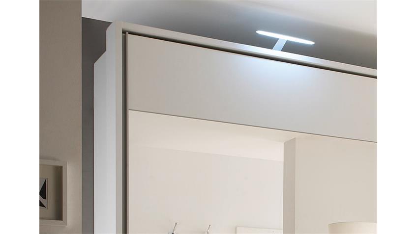 Schwebetürenschrank HELENA weiß mit Spiegel 315 cm
