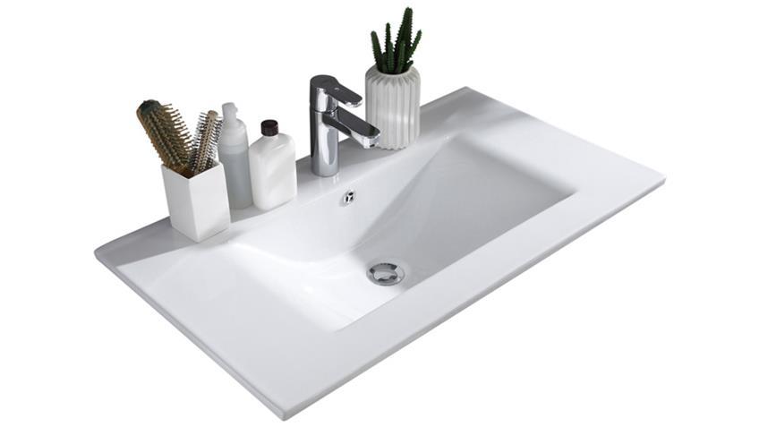 Waschtisch JASMIN mit Waschbecken Sibiu-Lärche weiß