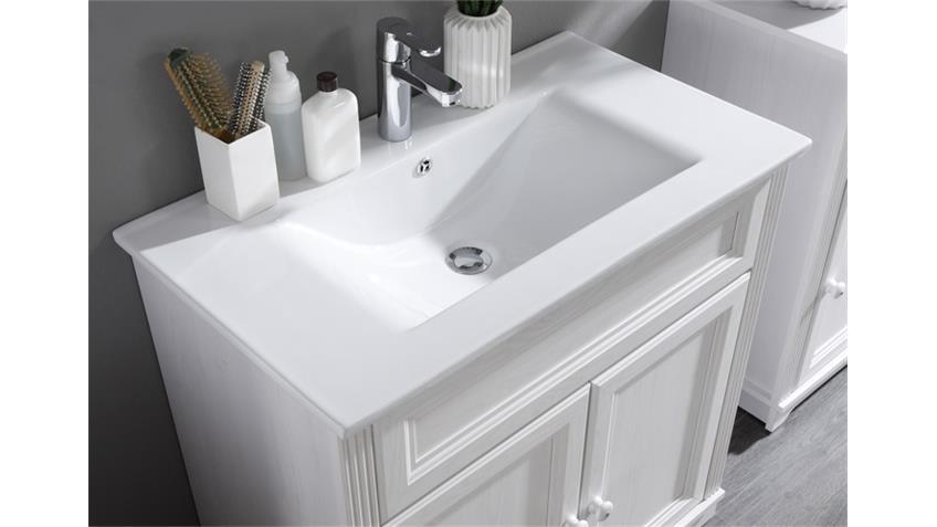Waschtisch JASMIN mit Waschbecken SibiuLärche weiß ~ Waschbecken Jasmin Gebraucht