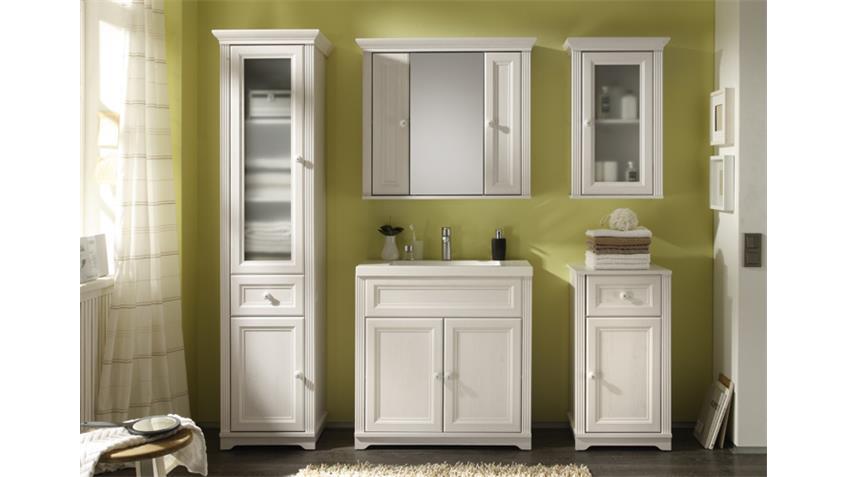 badezimmer set jasmin 5 tlg mit waschbecken in l rche wei. Black Bedroom Furniture Sets. Home Design Ideas