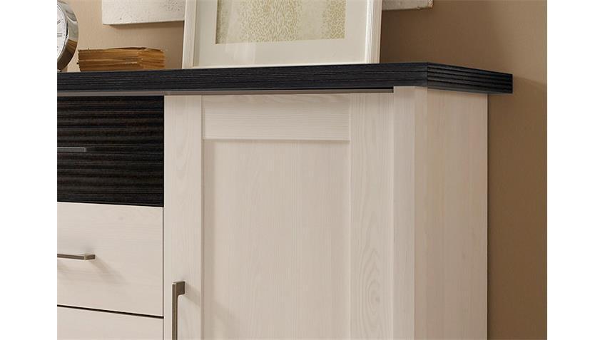 Kommode LUCA Sideboard in Pinie weiß und Touchwood
