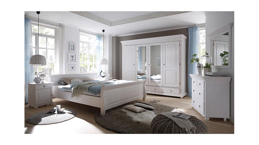 Nachtkommode OSLO Nachttisch in Kiefer massiv weiß