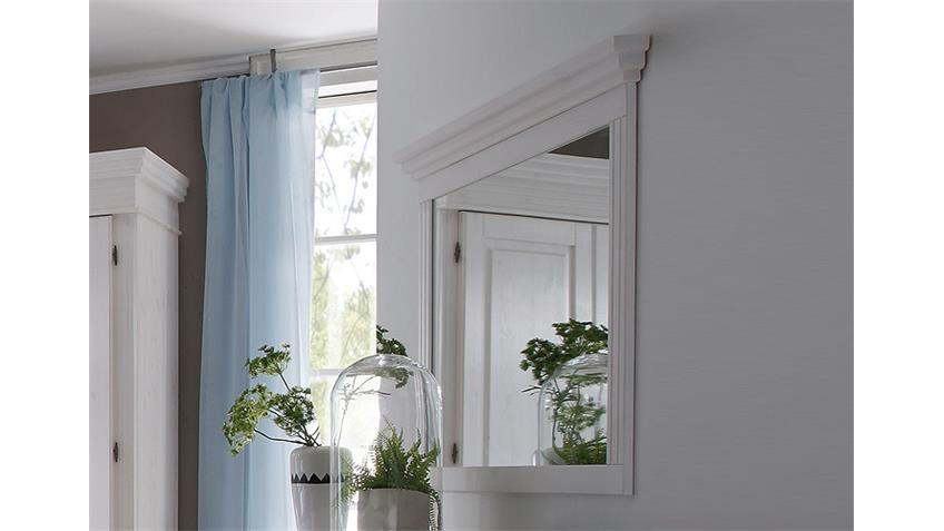 Spiegel OSLO Wandspiegel in Kiefer massiv weiß