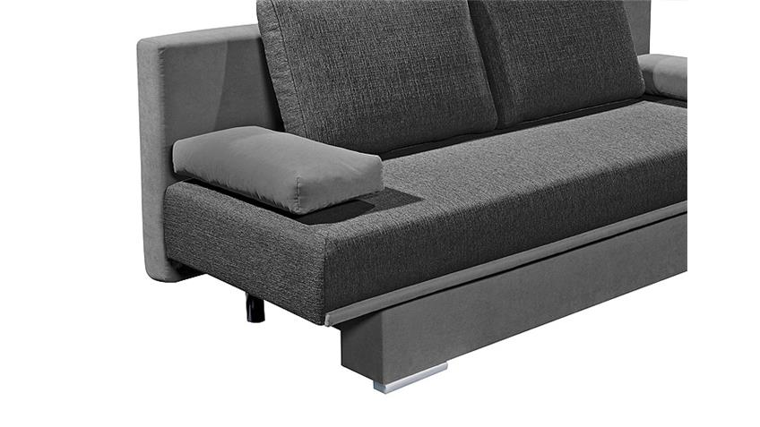Schlafsofa SINA Sofa Funktionssofa Bettkasten in Anthrazit