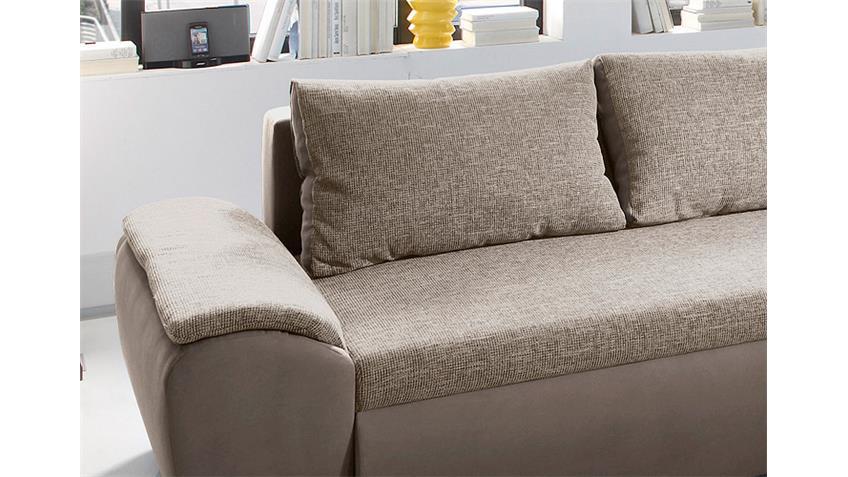 Ecksofa GAME Wohnlandschaft Sofa in braun beige mit Funktion