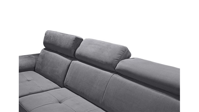 Ecksofa NAPOLI Sofa Wohnlandschaft anthrazit Relaxfunktion