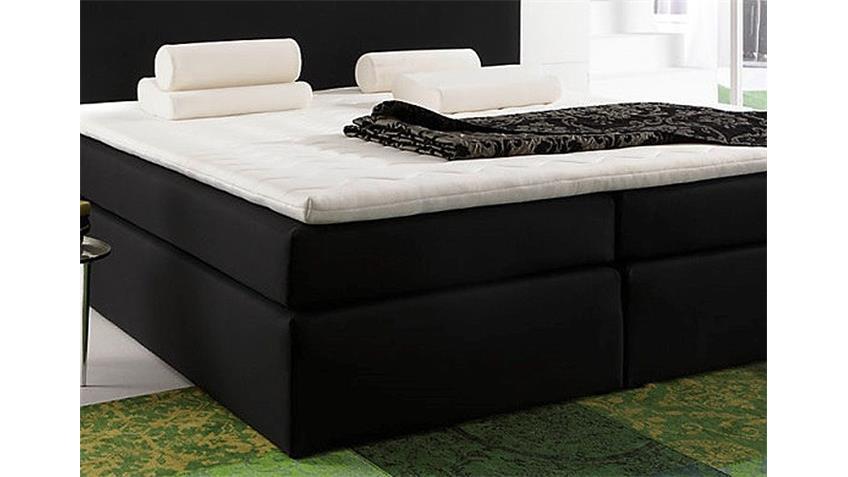Boxspringbett SANTA BARBARA Bett in schwarz inkl. Topper 140
