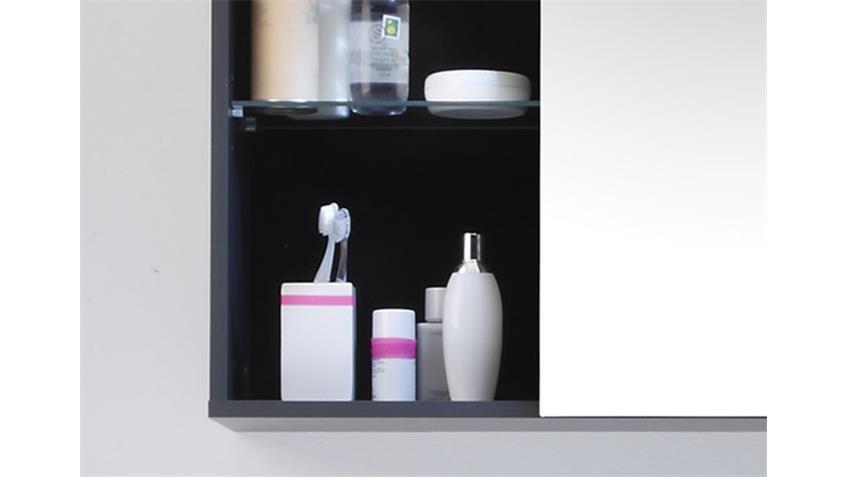 Spiegelschrank GREY für das Bad mit LED-Aufsatzbeleuchtung