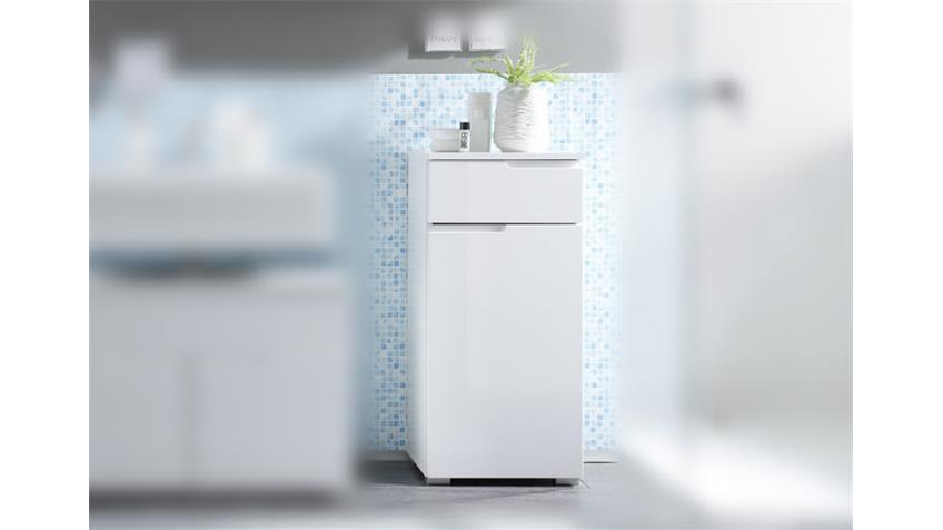 Badezimmer Kommode Spice Badschrank weiß hochglanz