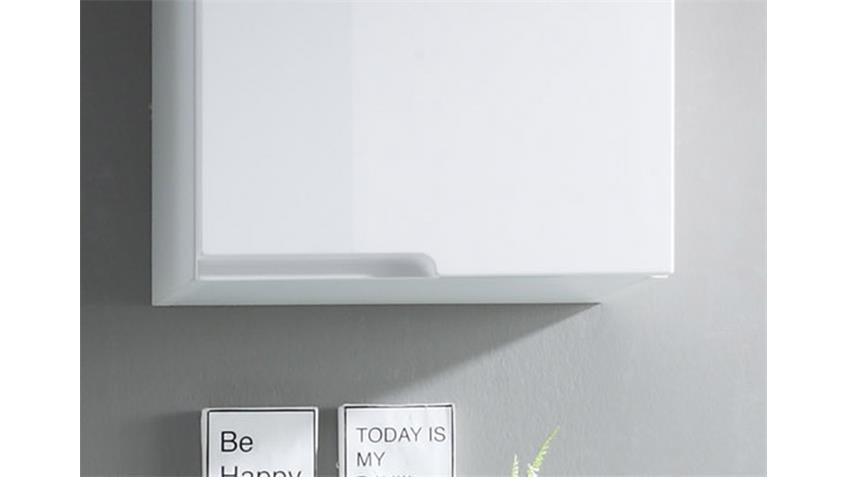 Hängeschrank Spice Badezimmer Schrank in Hochglanz weiß