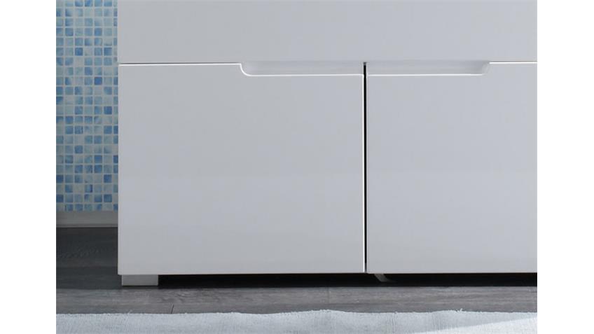 Waschbeckenunterschrank SPICE Badezimmer weiß Hochglanz