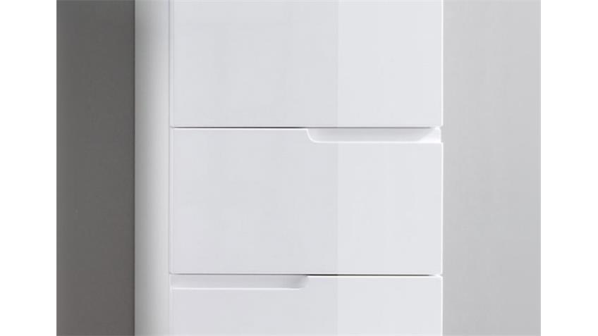 hochkommode spice badezimmer schrank in wei hochglanz. Black Bedroom Furniture Sets. Home Design Ideas