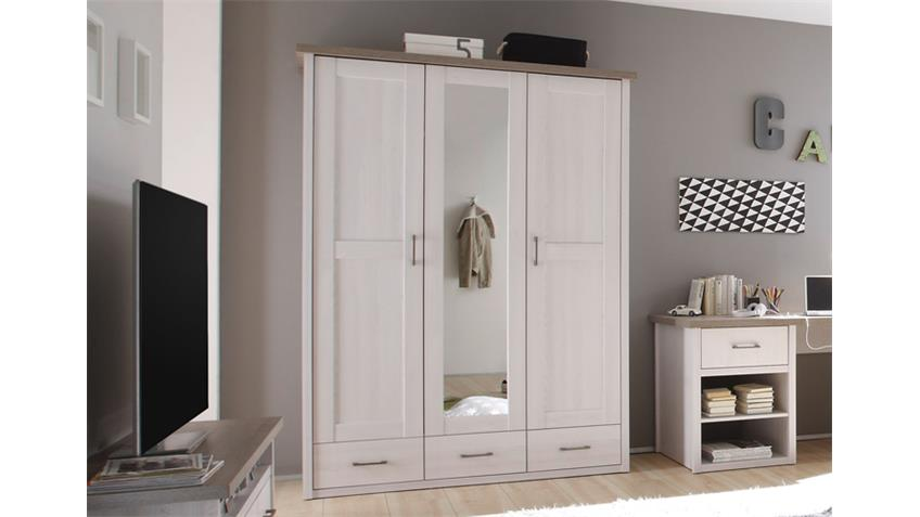 kleiderschrank jugendzimmer luca pinie wei und tr ffel. Black Bedroom Furniture Sets. Home Design Ideas
