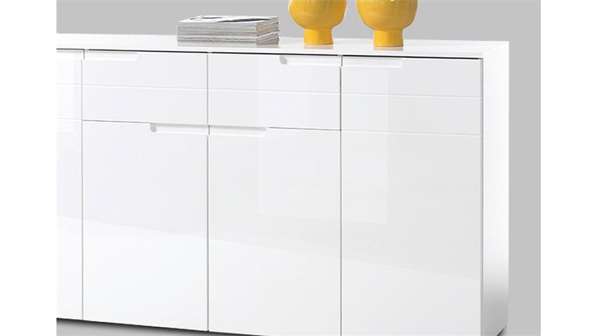 Sideboard SPICE Anrichte Kommode in weiß Hochglanz