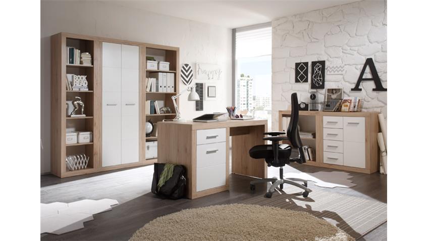 Büroset CAN CAN Büroprogramm in San Remo Eiche und weiß