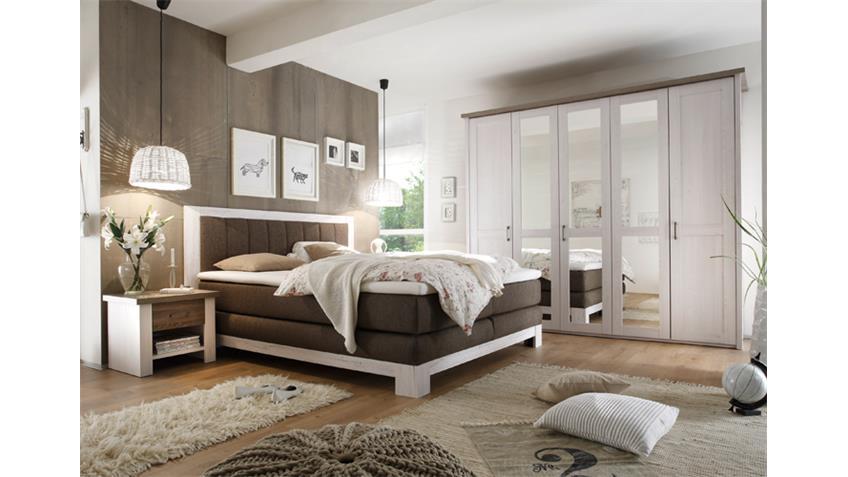 Wonderful Schlafzimmer Luca Kiefer #11: Schlafzimmer Set LUCA Mit Boxspringbett NEVADA Pinie Weiß Trüffel