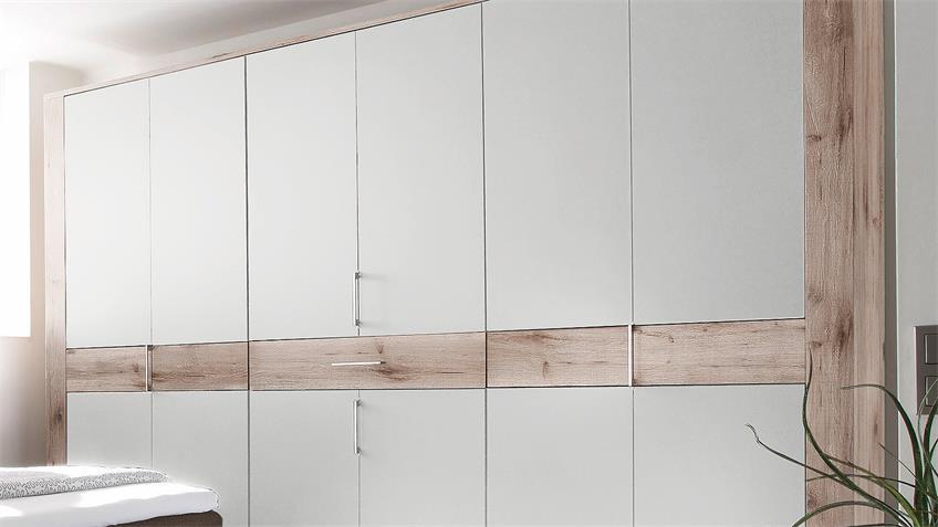 Falttürenschrank TAMPA Kleiderschrank Sandeiche weiß 315