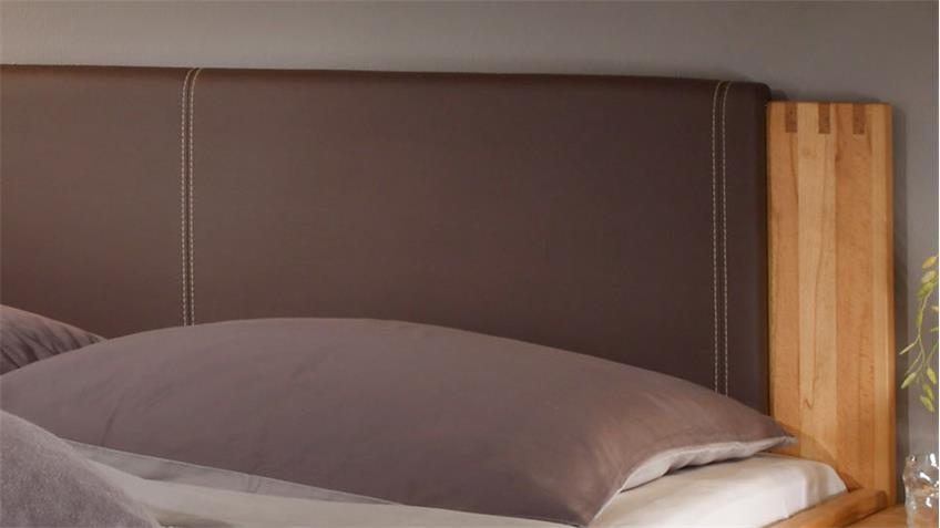 Doppelbett COLORADO Kernbuche teilmassiv Komfortbett 180 x 200 cm