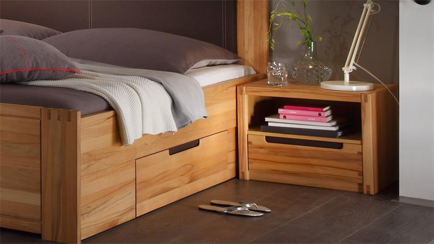 Schlafzimmer COLORADO Schrank Bett Nako Kernbuche teilmassiv