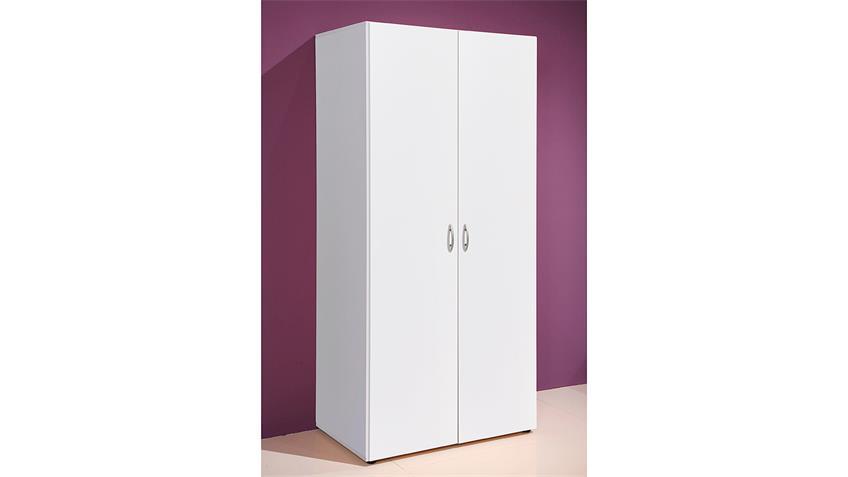 Kleiderschrank Base 2 weiß 80cm 2-türig
