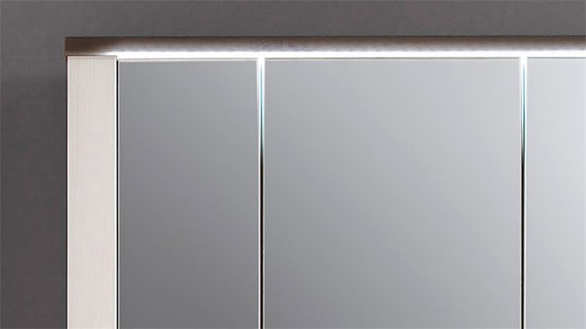 Spiegelschrank ANTWERPEN Sibiu-Lärche Weiß Touchwood