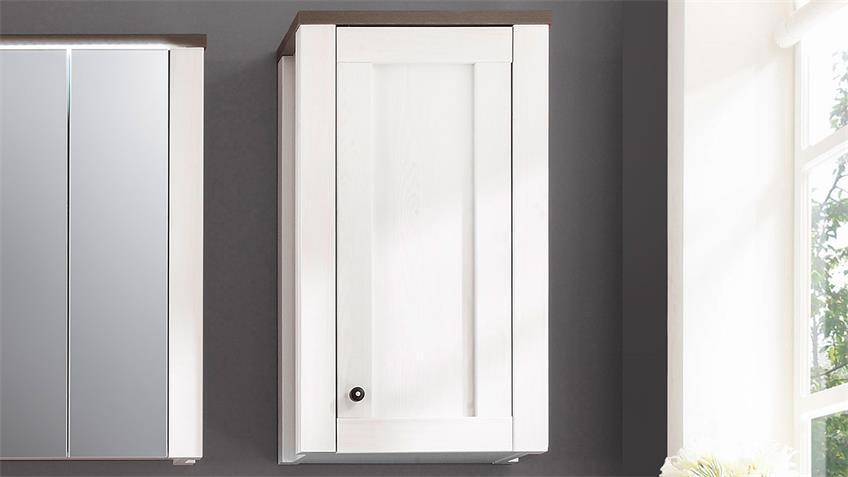 Badezimmer Set ANTWERPEN Sibiu-Lärche Weiß Touchwood