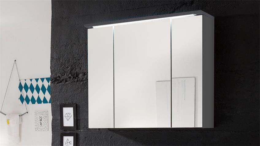 Spiegelschrank SPLASHI in Grau inkl. LED Beleuchtung