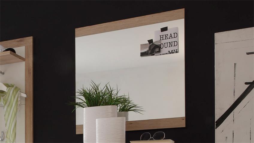 Spiegel Can Can 5 Garderobenspiegel in Sonoma Eiche 68x70 cm