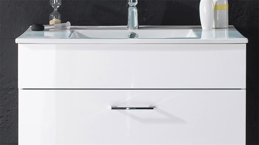 Waschbeckenunterschrank SPLASHI weiß inkl. Waschbecken