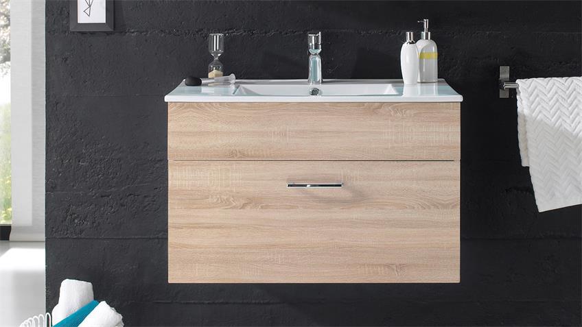 waschbeckenunterschrank splashi sonoma eiche inkl. Black Bedroom Furniture Sets. Home Design Ideas
