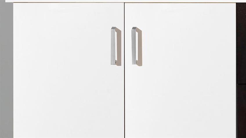 Highboard Lift weiß 4-türig 3SK schwarz