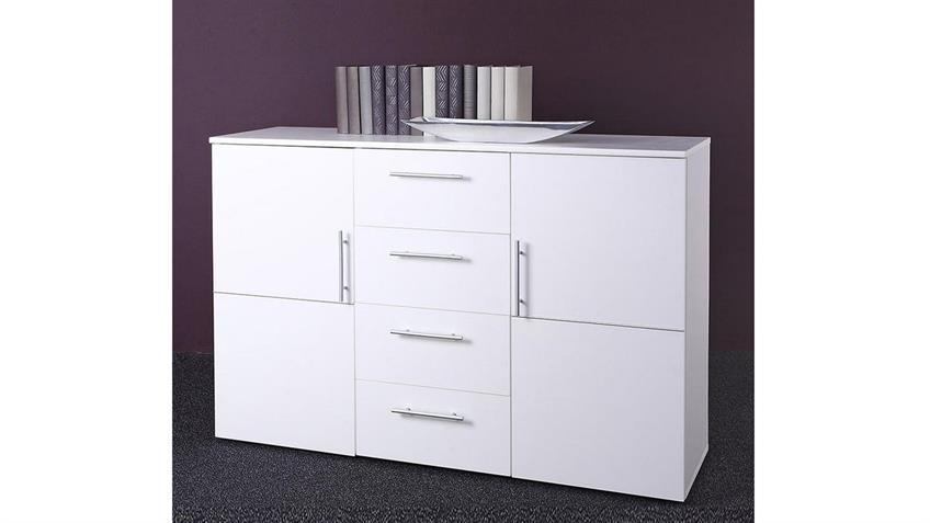 Sideboard Punto 4 Weiß Dekor 2 Türen 4 SK