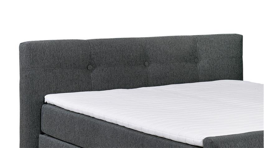 Boxspringbett ILLINOIS B1 Bett lawa grau mit Topper 180x200