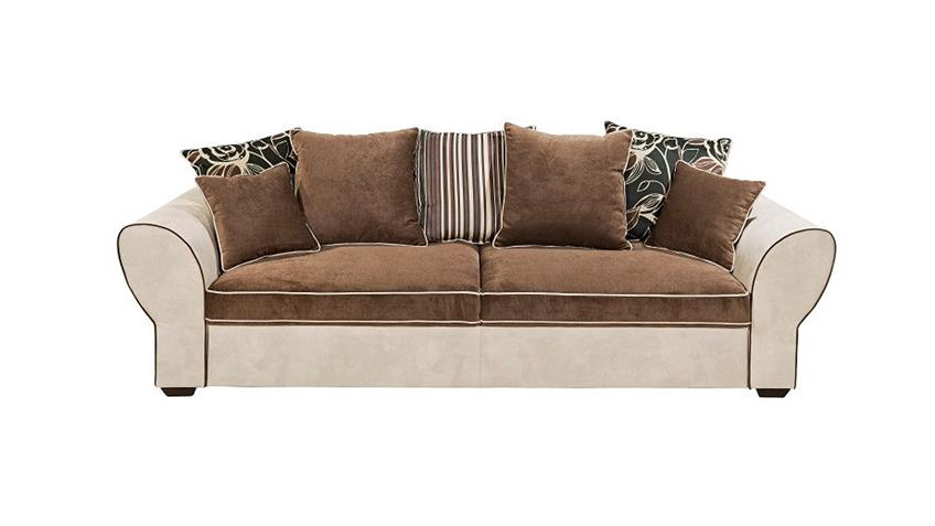 Sofagarnitur COUNTRY Sofa Polstergarnitur beige braun Funktion