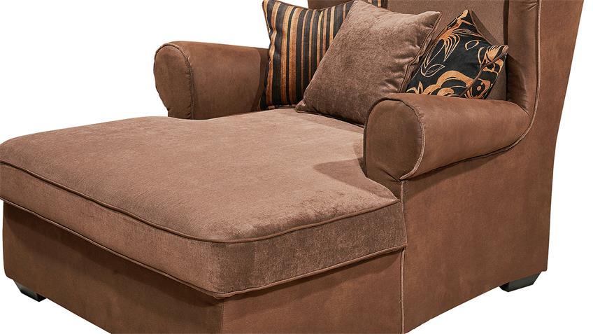 Sessel CANYON Sofa Polstermöbel Einzelsessel Kastanien braun